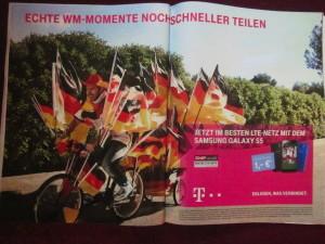 telekom_werbung_beflaggtes_fahrrad_gespann